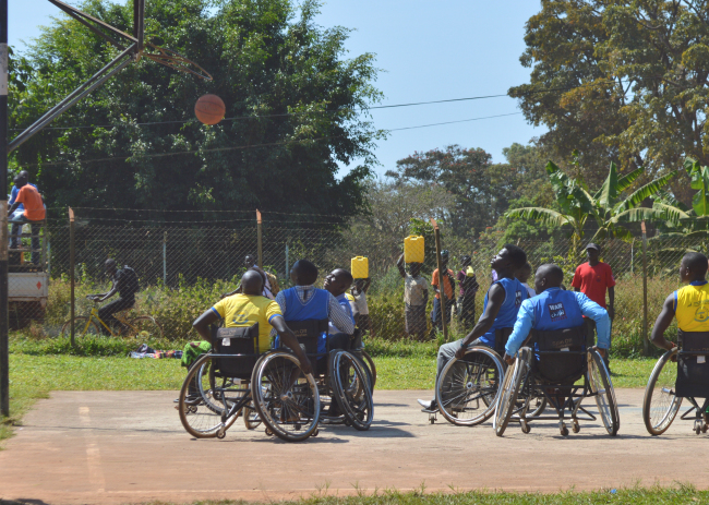 This image has an empty alt attribute; its file name is wheelchair-basketball-at-gdpu.jpg
